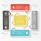 Design business infographics four successive options, web design template. Vector illustration. Stock Photo