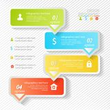 Design business infographics four successive options Stock Images