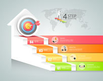 Design business staircase conceptual infographics. Stock Image