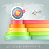 Design business staircase conceptual infographics. Stock Photography