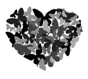 Design with butterflies in the shape of heart. Royalty Free Stock Photos