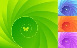 Design with butterfly. Royalty Free Stock Image