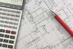 Design calculations Stock Photo