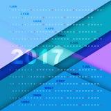 Design 2017 calendar on material background. Stock vector Royalty Free Stock Photos