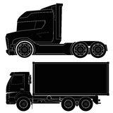 Design of car silhouettes, truck, automobile, vehi Stock Photography