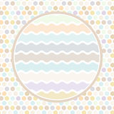 Design cards circle for your text Polka dot background, pattern. Pastel color dot on white background. Vector Stock Photos