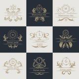 Design cards ornamental, decorative logos Royalty Free Stock Photography