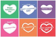 Design cards for Valentine's Day. Flat. Set. Vector illustration Royalty Free Illustration