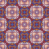 Design from the Caribbean. Seamless vector textile pattern in dynamic, vibrant and fancy colors, inspired by traditional motifs Royalty Free Stock Photos