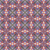 Design from the Caribbean. Seamless vector textile pattern in dynamic, vibrant and fancy colors, inspired by traditional motifs Stock Image