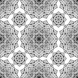 Design of carpet, textile, shawl. Oriental pattern with mandalas. Vector seamless background with round design elements. You can use this pattern in the design Stock Image