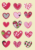 Design with cartoon heart Royalty Free Stock Images