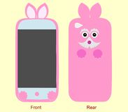 Design case for mobile phone front and rear Stock Images