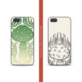 Design Case for Phone Abstract Mushroom Stock Photos