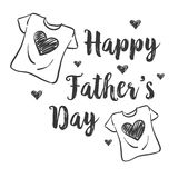 Design celebration father day collection. Vector art Royalty Free Stock Photos
