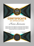 Design certificate of appreciation, diploma. Vertical template. Stock Photography
