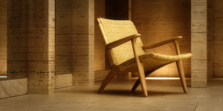 Design chair in modern interior Stock Photo