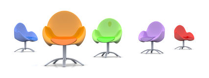Design Chairs Stock Photography