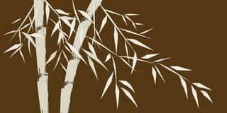 Design of chineese bamboo trees stock illustration