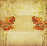 Design of chinese bamboo Royalty Free Stock Images