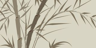 Design of chinese bamboo trees royalty free stock photos