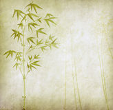 Design of chinese bamboo trees with texture Stock Photos