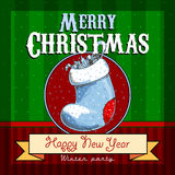 Design Christmas card Royalty Free Stock Images