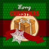 Design Christmas card Royalty Free Stock Photos