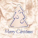 Design of Christmas card in laconic ecostyle. Vector illustration Royalty Free Stock Photos
