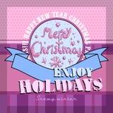 Design Christmas card Stock Image