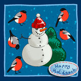 Design Christmas card Royalty Free Stock Image