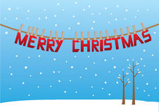 Design of Christmas Greeting message in the snow. Royalty Free Stock Images