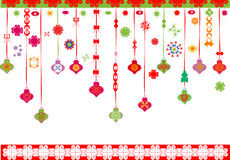Design christmas ornaments Stock Photos