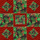 Design for a Christmas Quilt Royalty Free Stock Photo