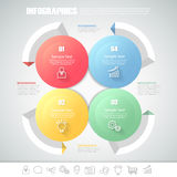 Design circle infographic 4 steps. can be used for workflow layout, diagram Stock Photo