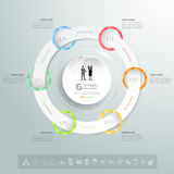 Design circle infographic template, Business concept infographic 6 options. Design circle infographic template, Business concept infographic, vector infographic royalty free illustration