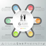 Design circle infographic template, Business concept infographic Stock Photography