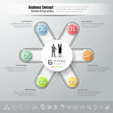 Design circle infographic template, Business concept infographic Stock Images