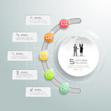 Design circle infographic template, for business concept 5 options. Design circle infographic template, Business timeline infographic, vector infographic vector illustration