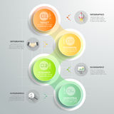 Design circle infographic template 4 steps for business concept. Stock Photo