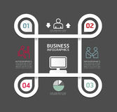 Design circle line Minimal style infographic template Royalty Free Stock Photography