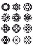 Round vector flowers Royalty Free Stock Images