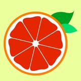 Sweet half red orange icon fruit royalty free illustration