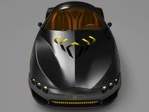 Design of the city car concept in a futuristic style. 3D illustration. Design of the city car concept in a futuristic style. Armored compartment. 3D vector illustration