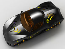 Design of the city car concept in a futuristic style. 3D illustration. Stock Photo