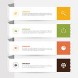 Design clean banners template. Infographics vector with icons Stock Image