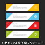 Design clean banners template. Infographics vector. Illustration Royalty Free Stock Photography