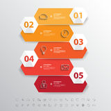 Design clean flat long icon banners template.Vector/EPS 10. Stock Photos