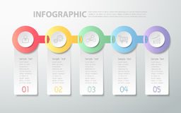 Design clean infographic template. can be used for workflow layout, diagram Stock Photography