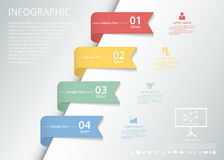 Design clean infographic template 4 steps Vector eps10. Stock Photography